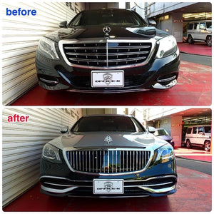 W222 S-Class Maybach Style Grille S550 S600 S65 S63 2014 2015 2016 2017 2018 - 55tech Motors