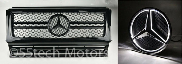 Mercedes Benz W463 G Wagon G63 AMG Style Grille With Illuminated LED Light Up Star/Emblem - 55tech Motors