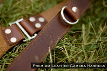 Load image into Gallery viewer, THE KNIGHT - Double Leather Camera Belt Harness - Golden Arrow Gears - Leather Camera Belt Strap