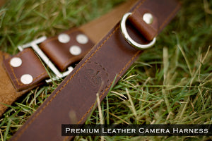 THE KNIGHT - Double Leather Camera Belt Harness - Golden Arrow Gears - Leather Camera Belt Strap