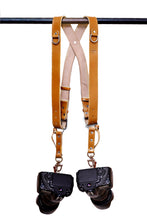 Load image into Gallery viewer, THE KNIGHT - Leather Double Camera Belt Strap