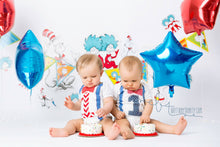Load image into Gallery viewer, 1st B-Day Boy Outfit - Carnival Dr. Seuss