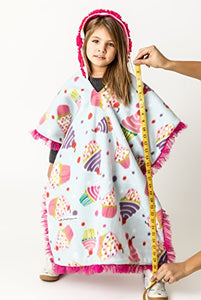 Car Seat Poncho - Car Crash Tested and CPSC Compliant - Cupcakes