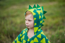 Load image into Gallery viewer, Car Seat Poncho - Halloween Costume - Car Crash Tested and CPSC Compliant - Dino Spikes