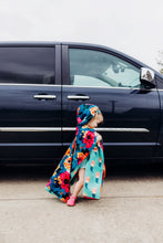 Load image into Gallery viewer, Car Seat Poncho - Car Crash Tested and CPSC Compliant - Florals & Mermaids