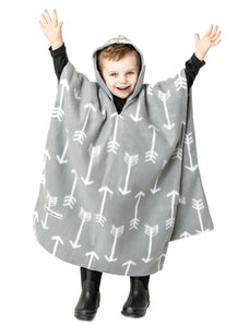 Car Seat Poncho - Gray Arrow