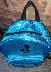 Girls School Girls School Backpack Mermaid Scales Book Bag Trip Turquoise Shiny ShimmerMermaid Scales Book Bag Trip Turquoise Shiny Shimmer