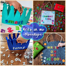 Load image into Gallery viewer, Letter Board Kids Changeable Message Toddlers Tweens Inspo Make Words Letterboard Reusable Girl Colorful Felt Letter Set