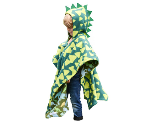 Car Seat Poncho - Halloween Costume - Car Crash Tested and CPSC Compliant - Dino Spikes