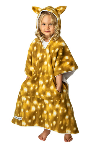 Car Seat Poncho - Car Crash Tested and CPSC Compliant - Fawn with ears Reversible WITH Pocket