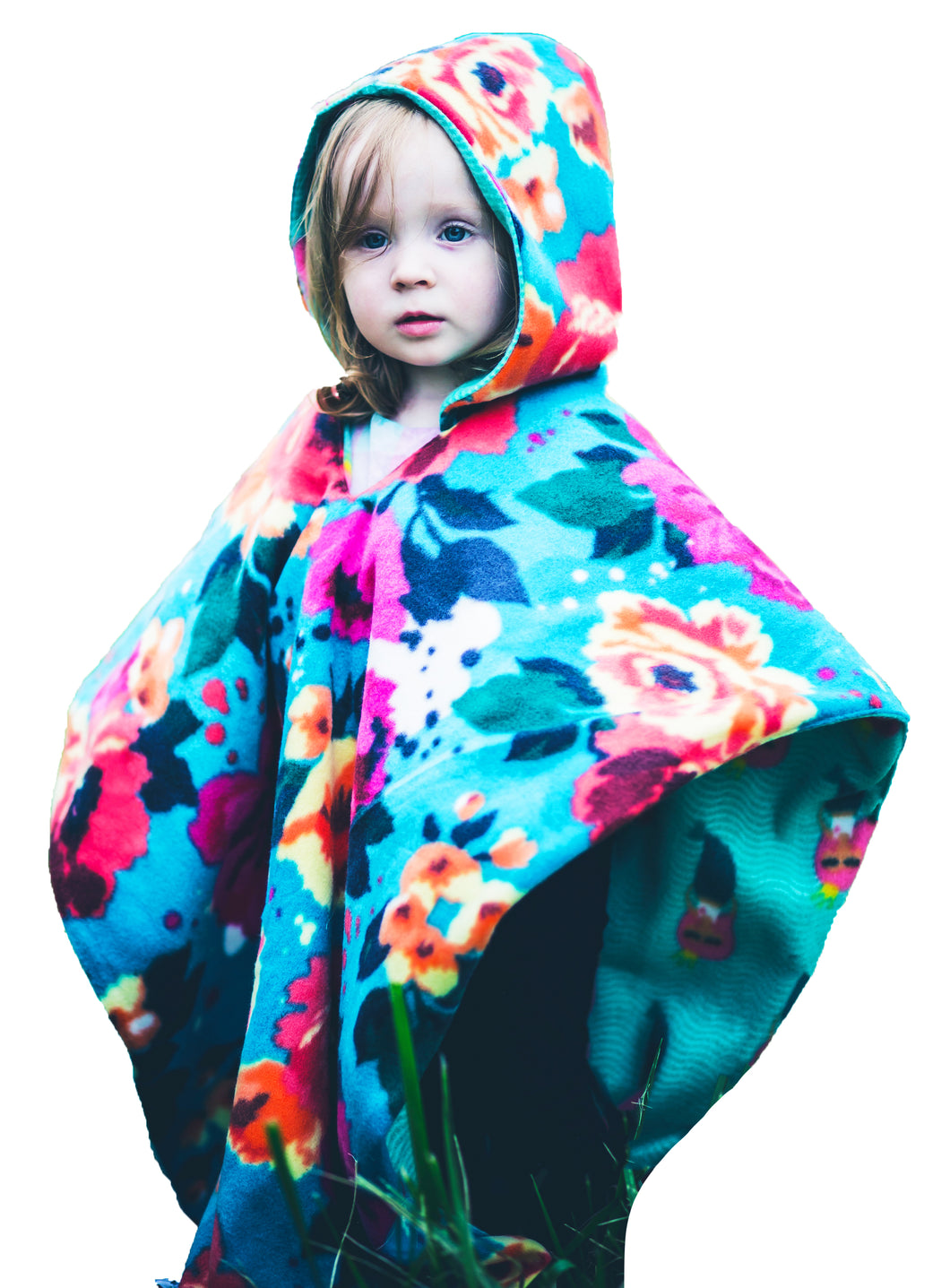 Car Seat Poncho - Car Crash Tested and CPSC Compliant - Florals & Mermaids