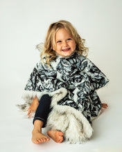 Load image into Gallery viewer, Car Seat Poncho - Car Crash Tested and CPSC Compliant - Faux Fur and Flowers