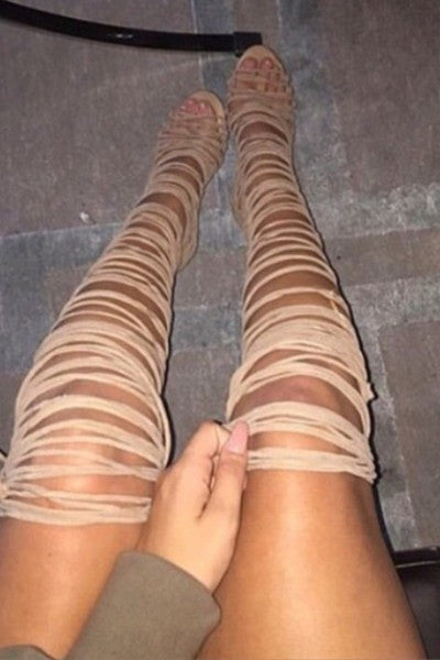 Kendall Lace-Up Heels
