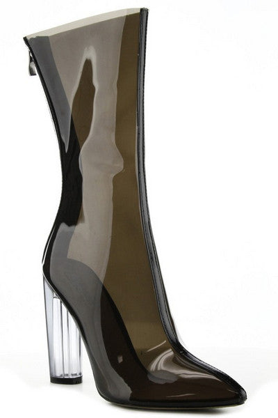 Krystal Perspex Booties - Black