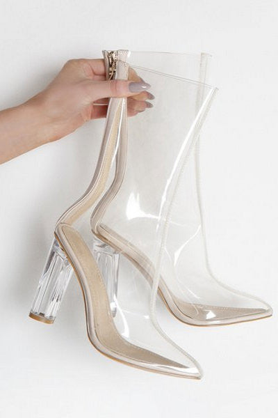Krystal Perspex Booties - Clear