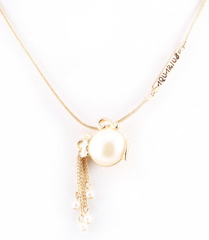 Zodiac Pearl Necklace - Leo