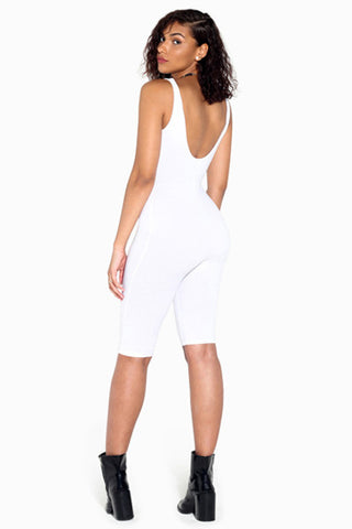 Off-Shoulder Capri Jumpsuit