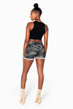 Dark Camo Knit Shorts