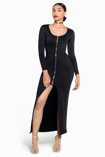Zip It Maxi Dress