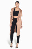 Lightweight Suede Duster