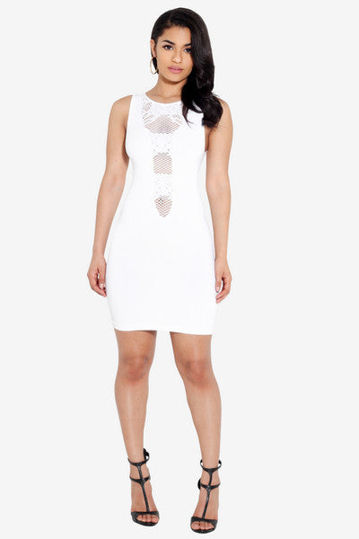 White Party Bodycon Dress
