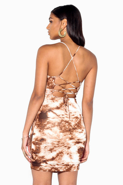 CoCoa Lace-Up Dress
