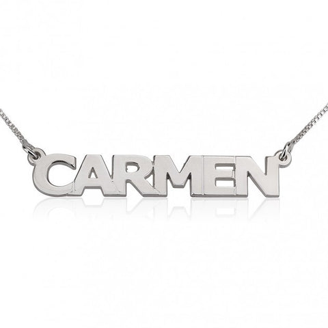 Coil Name Necklace - Sterling Silver
