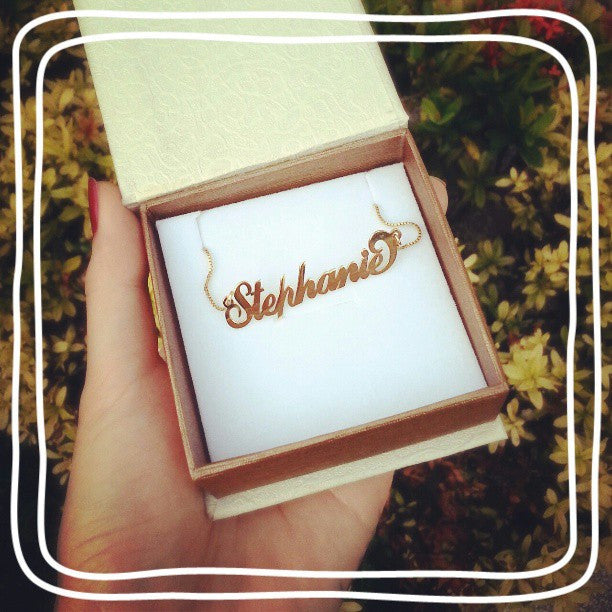 Coil Name Necklace - 24K Gold Plated