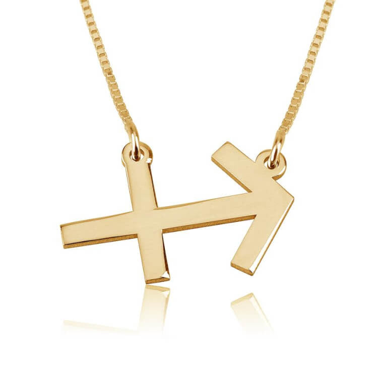 Sagittarius Zodiac Necklace - 24K Gold Plated