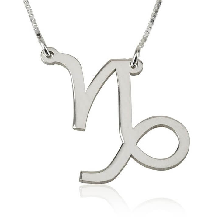 Capricorn Zodiac Necklace - Sterling Silver