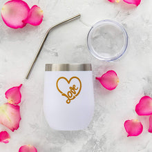 Load image into Gallery viewer, Love Tumblers - 2 Pack Heart Tumblers - Perfect for Valentine's Day