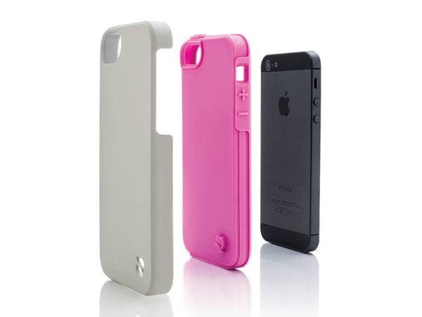 iPhone 5 Cases - Eco Friendly Interchangeable iPhone 5/5S Case (Gray/Pink) InStock