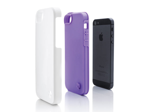 iPhone 5 Cases - Eco Friendly Interchangeable iPhone 5/5S Case (White/Purple) InStock
