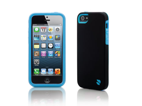 iPhone 5 Cases - Eco Friendly Interchangeable iPhone 5/5S Case (Black/Blue) InStock