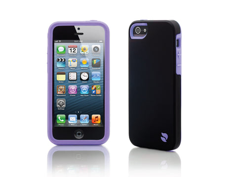 iPhone 5 Cases - Eco Friendly Interchangeable iPhone 5/5S Case (Black/Purple) InStock