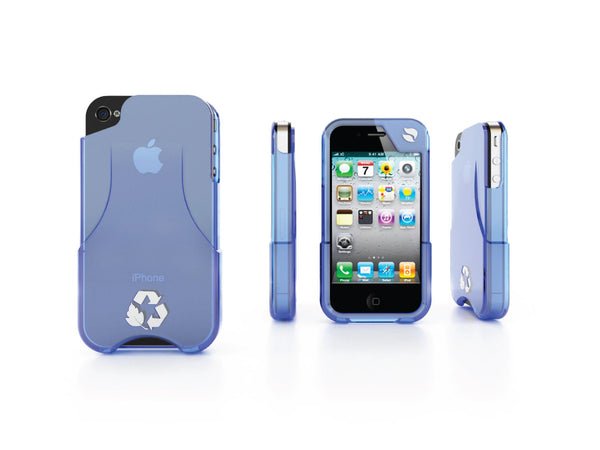 Eco Friendly iPhone Glider 4/4S Case (Blue)