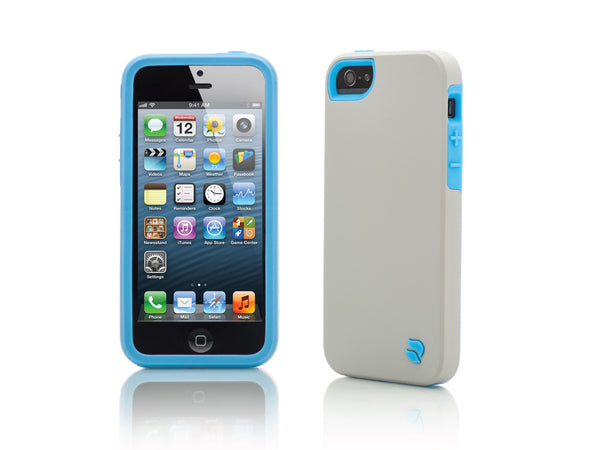 iPhone 5 Cases - Eco Friendly Interchangeable iPhone 5/5S Case (Gray/Blue) InStock