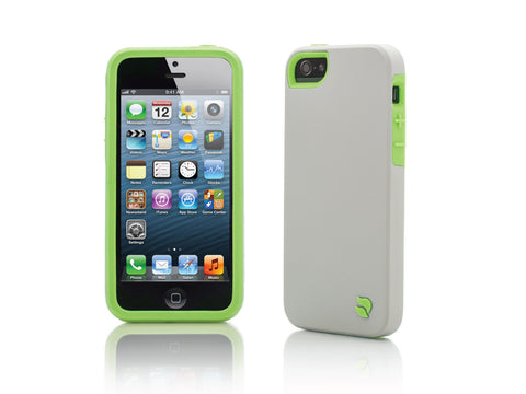 iPhone 5 Cases - Eco Friendly Interchangeable iPhone 5/5S Case (Gray/Green) InStock