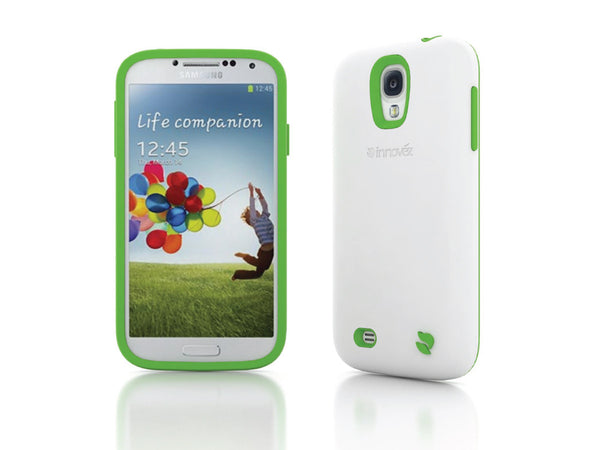 Eco Friendly Interchangeable Samsung Galaxy S4 Case (White/Green)