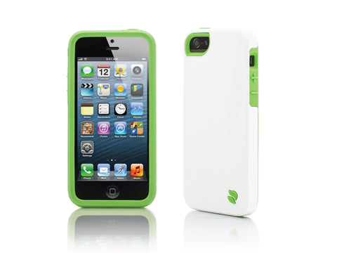iPhone 5 Cases - Eco Friendly Interchangeable iPhone 5/5S Case (White/Green) InStock