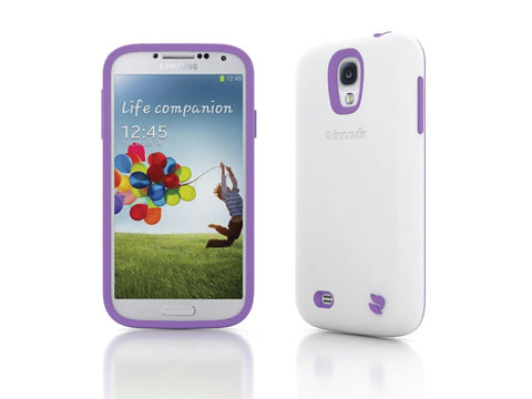 Eco Friendly Interchangeable Samsung Galaxy S4 Case (White/Purple)
