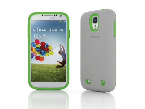 Eco Friendly Interchangeable Samsung Galaxy S4 Case (Gray/Green)