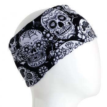 Bandana Skull Black and White