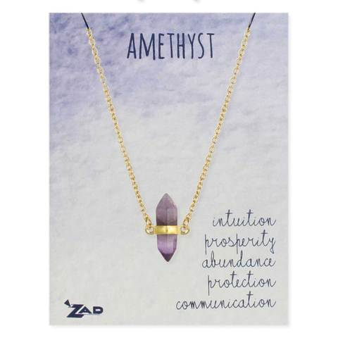 Necklace Amethyst Crystal
