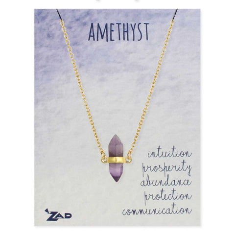 Necklace Crystal Amethyst Stone