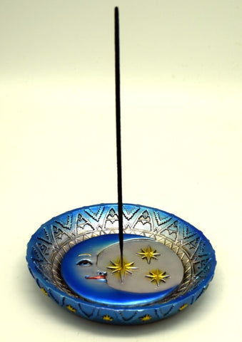 Incense Burner Plate Moon and Stars