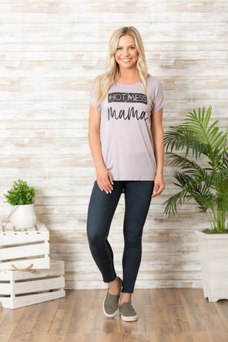 Junior Hot Mess Mom Top