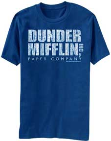 T-Shirt Dunder Mifflin Blue