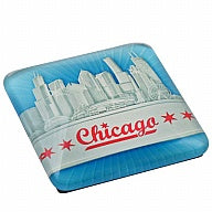 Magnet Chicago Glass