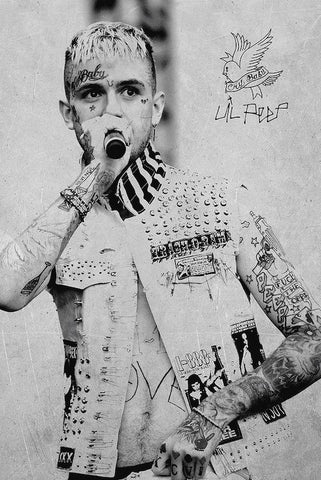 Poster Lil Peep Black and White